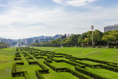 Parque de Eduardo VII en Lisboa, Portugal Foto de archivo