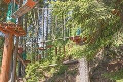 Parque de escalada, campo de jogos da aventura imagens de stock royalty free