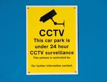 Parque de estacionamento 24 fiscalizações do CCTV da hora. Imagem de Stock