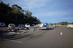 Parque de estacionamento da parada do resto da estrada em Austrália Fotografia de Stock
