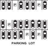 Parque de estacionamento da vista superior Imagem de Stock