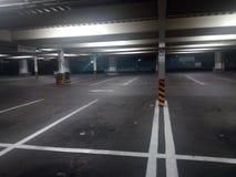 Parque de estacionamento de Abandobed imagem de stock