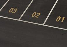 Parque de estacionamento do carro com números Imagens de Stock Royalty Free