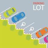 Parque de estacionamento do parque de estacionamento Ilustração do Vetor