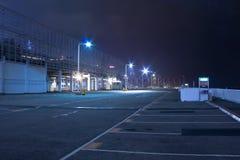 Parque de estacionamento na noite Imagem de Stock Royalty Free