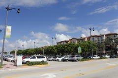 Parque de estacionamento público dentro do centro Fotografia de Stock Royalty Free