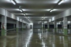 Parque de estacionamento vazio Imagens de Stock