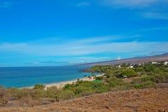 Parque de estado da praia de Hapuna, Havaí, console grande Fotografia de Stock
