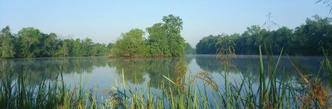 Parque de estado de Fausse Pointe do lago imagens de stock