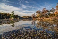 Parque de estado de Harriman en otoño Imagen de archivo libre de regalías
