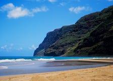 Parque de estado de Polihale, Hawaii imagen de archivo