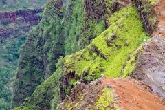 Parque de estado del barranco de Waimea, Kauai, Hawaii imagenes de archivo