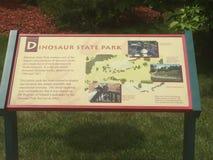 Parque de estado del dinosaurio y arboreto en Rocky Hill, Connecticut Fotografía de archivo