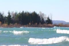Parque de estado del lago Michigan Leelanau imagen de archivo