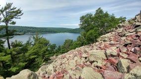 Parque de estado del lago del ` s del diablo - Baraboo, Wisconsin fotos de archivo libres de regalías