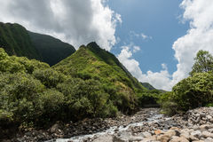 Parque de estado del valle de Iao, Maui del oeste Imagen de archivo