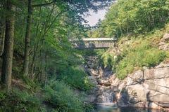 Parque de estado de la muesca de Franconia, NH Fotos de archivo
