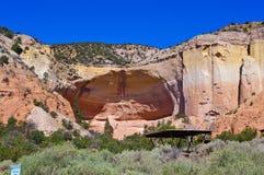 Parque de estado natural del anfiteatro New México fotos de archivo
