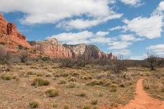 Parque de estado rojo de la roca en la primavera Fotos de archivo