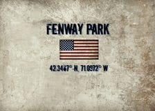 Parque de Fenway, Boston, mA stock de ilustración