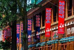 Parque de Fenway de las banderas del campeonato Fotos de archivo libres de regalías