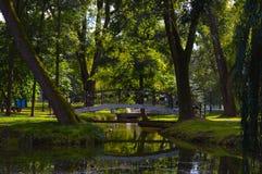 Parque de Gorky em Minsk, Bielorrússia imagem de stock