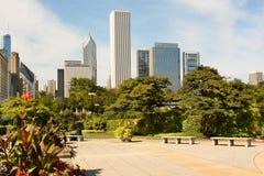 Parque de Grant del horizonte de Chicago Fotos de archivo libres de regalías