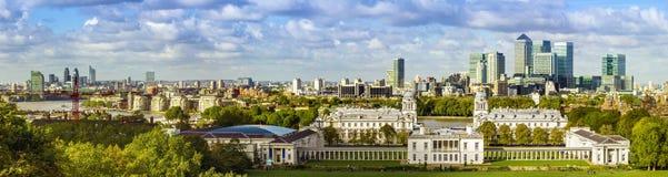 Parque de Greenwich do formulário da skyline de Londres Fotografia de Stock