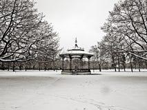 Parque de Greenwich en la nieve Fotos de archivo libres de regalías