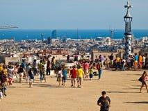 Parque de Guell, Barcelona Foto de archivo libre de regalías