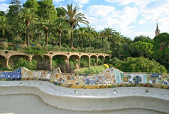Parque de Guell, Barcelona. Fotos de archivo