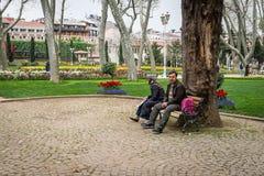 Parque de Gulhane em Istambul, Turquia Fotos de Stock Royalty Free