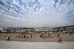 Parque de Hangang em Yeouido em Seoul, Coreia do Sul imagens de stock royalty free