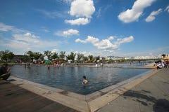 Parque de Hangang em Yeouido em Seoul, Coreia do Sul foto de stock royalty free