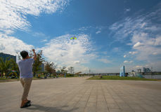 Parque de Hangang em Yeouido em Seoul, Coreia do Sul fotos de stock royalty free