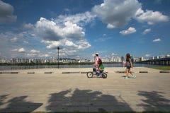 Parque de Hangang em Yeouido em Seoul, Coreia do Sul foto de stock
