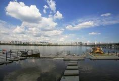 Parque de Hangang em Yeouido em Seoul, Coreia do Sul imagem de stock royalty free