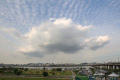 Parque de Hangang em Yeouido em Seoul, Coreia do Sul fotografia de stock