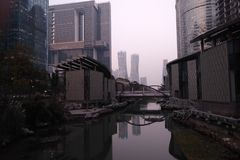 Parque de Hangzhou Quianjiang Fotografia de Stock Royalty Free