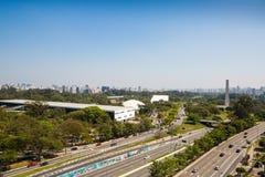 Parque de Ibirapuera, Sao Paulo, el Brasil fotos de archivo