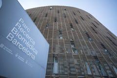 Parque de investigación biomédico de Barcelona, Parc Recerca Biomedica, construcción diseñada por Manuel Brullet y Albert de Pine fotos de archivo