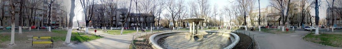 Parque de Izvorul Rece, Bucarest, 360 grados de panorama Foto de archivo libre de regalías