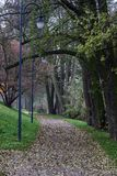 Parque de Jezioro Powidzkie en Polonia central Foto de archivo