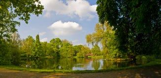 Parque de Johanna em Leipzig Foto de Stock Royalty Free