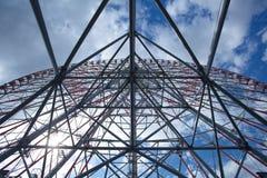 Parque de Kasai Rinkai, roda de Ferris, o diamante e F fotografia de stock