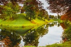 Parque de Kastellet en la ciudad de Copenaghen fotografía de archivo