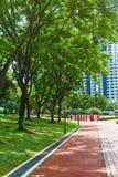 Parque de KLCC em Kuala Lumpur Pista da bicicleta imagem de stock