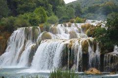 Parque de Krka la cascada más grande de Croacia Imágenes de archivo libres de regalías