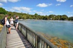 Parque de Kuirau en Rotorua - Nueva Zelanda Foto de archivo libre de regalías