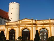 Parque de la abadía y pabellón del jardín, Melk, Austria Imagen de archivo